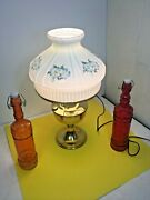 Lamp Vintage Aladdin Model 23 355086 Brass Oil Lamp With Glass Shade Like A New.