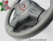 For Austin Healey Sprite Mk2 13'' 50-70 Grey Perf Leather Steering Wheel Cover  
