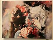 Call Me Softly Giclee On Canvas Stretched By Dimitra Milan 40x30in