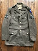 1942 Wwii Us Army Air Force Sergeant Officers Dress Green Uniform