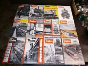 Trains Magazine Lot Of 12 Magazines 1956 Complete Year 12 Issues