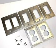 Amerelle Switch Plate Outlet Cover Wall Rocker Satin Nickel Lot Of 5-wall+outlet