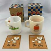 Fire King Peanuts Snoopy Red Baron Mug Cup Collection Vintage New Fedex