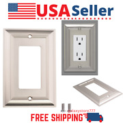 [3pack] Nickel Wall Light Switch Plate Outlet Cover Rocker Single Gang Wallplate