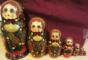 Vintage Russian Nesting Dolls - Set Of Two Both Signed - Ornate