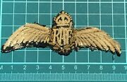 Wwi Raf Pilot Wing. Has Snap Fasteners To Attach To Uniform.