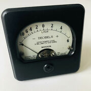 1950andrsquos Weston 301 Vu Meter For Gates Sa-39b And Collins 6c 6w Limiters And Rcaandnbsp