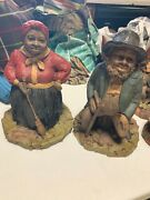 Lot Of 2 Tom Clark Gnomes Hattie And Lawrence 9