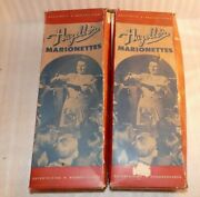 2 Vintage Hazelleand039s Marionette For Repair As Is Big Bad Wolf And Lr Riding Hood