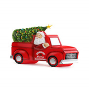 Mr. Christmas Blow Mold Truck With Tree Christmas Dandeacutecor Red Green