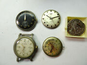 Elgin 712 889 554 756 823 Vintage Watch Movements Lot For Parts Repair Some Run