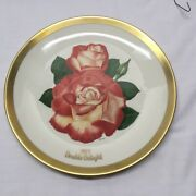 Gorham - 1977 All American Rose - Limited Edition Plate, W/wall Hanging Bracket