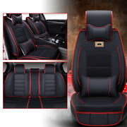 Car Seat Covers Pu Leather Universal Dog Pet Protector Full Set Front Rear Black