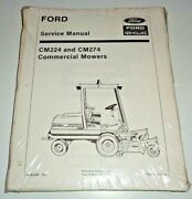 Ford Cm224 Cm274 Commercial Front Mower Service Manual Original New Old Stock