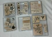 Lot 6 Sets Stampin Up Rubber Stamps Favorite Thoughts Wonderful Words Make Count