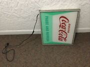 1959 Coca Cola Light Up Sign Illusion Have A Coke Store Collectible Soda Vintage