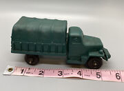 Auburn Rubber Plastic Military Toy Truck 656 Green 5.5, Vintage, Made In Usa