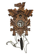 🔥vintage German Bird Hand Carved Cukoo Clock Mint And Excll Working Condition🔥