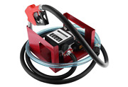 155w Electric Fuel Transfer Pump 12v Dc Big Flow Rate With Automatic Nozzle