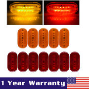 5amber And 7red 6leds Side Marker Light Truck Trailer Clearance Led Lamp Assembly