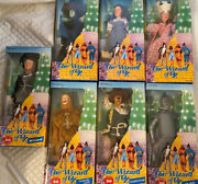 Wizard Of Oz Dolls1988 50th Anniversary Multi Toys 12-13 Set Of 7 W/wizard