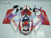 Fairing Injection Mold Red White Body Kit Fit For 2007-2012 Ducati 848 1098 1198