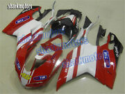 Fairing Fit For 2007-2012 Ducati 848 1098 1198 White Red Injection Body Kit Sd1
