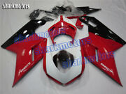 Fairing Red White Black Injection Mold For Ducati 2007-2012 848 1098 1198 Sb6