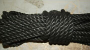 1/2 X 107and039 Sail/halyard Line 3-strand Polyester Control Line Boat Rope -new