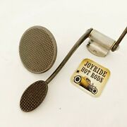Hot Rod Spoon Gas Pedal - Brass Bushings And Matching Brake Pedal Pad - Unpol S/s