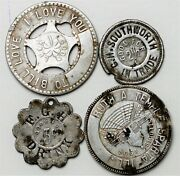 Sparta, Illinois Lot Of 4 Us Trade Token And Good Luck Tokens Good For 2 1/2c 5c