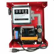 110v 155w Electric Gas Transfer Pump With Nozzle Suitable For Oil Fuel Diesel