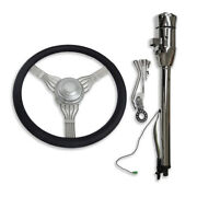 28 Auto Steering Column And Adapter And 14 Wheel Built-in Adapter And Horn Button