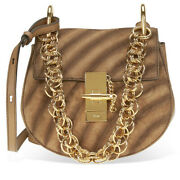 Small Drew Bijou Suede And Leather Shoulder Bag Brown [brand-new]