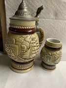 Vintage Avon 1977 Tall Ships Collectors Beer Stein W Lid Hand Made Brazil And Mi