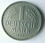 1955 F Germany Mark - High Grade - Early Series High Value Coin - Germany Bin 5