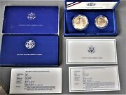 1986-s United States Liberty Coin Set - Proof Silver Dollar / Proof Clad Half