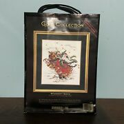 Dimensions Windswept Santa Gold Collection 8449 Counted Cross Stitch Kit Nip