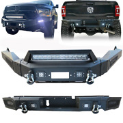 Vijay Rear Bumper With Led Lights And D-rings For 2013-2018 Dodge Ram 1500
