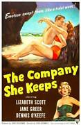 The Company She Keeps Poster Dennis Okeefe Old Movie Photo