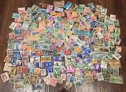 Vintage Lot Of World Postage Stamps 230+ Cyprus Hong Kong Poland Great Britain+