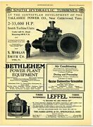 1928 S. Morgan Smith Ad Turbine For Tallahassee Power Co. Calderwood Tennessee