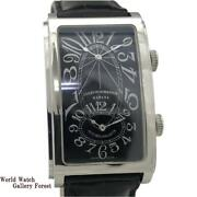 Used Cuervo Y Sobrinos Watch Automatic Men Prominente Dual Time Ref A1112 2 Ss