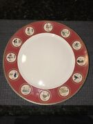 """Williams Sonoma 12 Twelve Days Of Christmas Dinner Plates. 12"""". Made In China"""