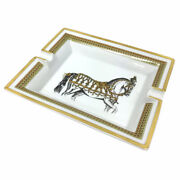 Pre-owned Authentic Hermes Ashtray Fully Dressed Horse Pottery