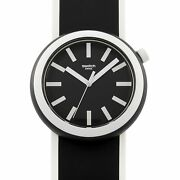 Swatch Poplooking 45 Mm Black And White Watch Pnb100