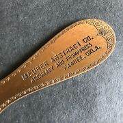Antique 1800and039s Copper Letter Opener Meurer Abstract Co Pawnee Oklahoma