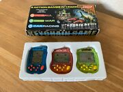 Boxed Systema 3 X Lcd Vintage 80's/90's Keychain Electronic Handheld Games Mint