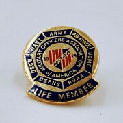 Military Officers Association Of America Tie Tack Lapel Pin Life Member. Po