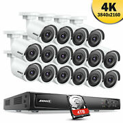 Annke 4k 16ch Poe Nvr 8mp Ir Motion Security Camera System Onvif Ip Network Ip67